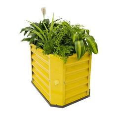 Hills   Hills Self Watering Garden Bed, Yellow   Outdoor Pots And Planters