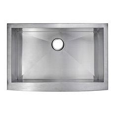 Zero Radius Single Bowl Stainless Steel Hand Made Apron Front Kitchen Sink