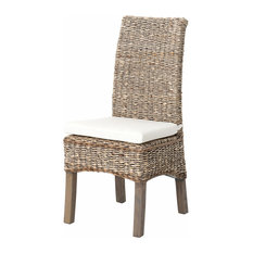 Grass Roots Banana Leaf Chair, Grey Wash