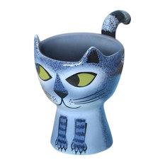 Cat Egg Cup, Grey Tabby