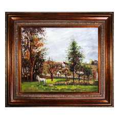 Landscape with a White Horse in a Meadow