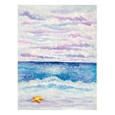 Purple Beach Oil Painting