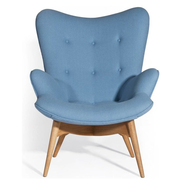 Fabric Upholstered Chair, Blue