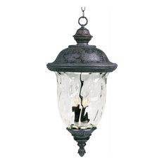 Carriage House VX 3-Light Outdoor Hanging Oriental Bronze Water Glass
