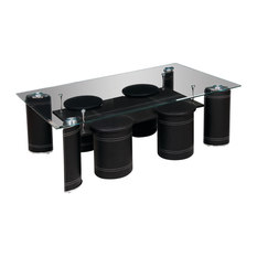 tempered glass coffee tables | houzz