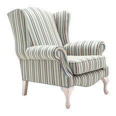 Great Savoy Handcrafted Wing Chair   Armchairs And Accent Chairs