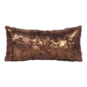 Howard Elliott Gold Cougar Kidney Pillow, Down Insert