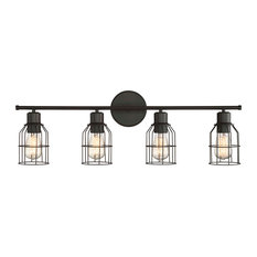 4-Light Vanity Fixture, Oil Rubbed Bronze
