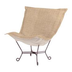 Coco Scroll Puff Chair, Stone