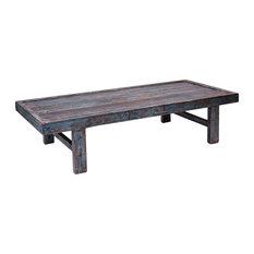 Sarreid Ltd Large Wood Panel Coffee Table Tables