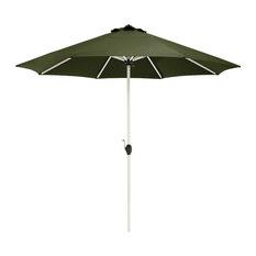 Montlake Fadesafe 9' Round Aluminum Patio Umbrella, Heather Fern Green