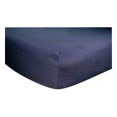 Trend Lab Navy Deluxe Flannel Fitted Crib Sheet