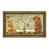 "Gustav Klimt Tree of Life Stoclet Frieze Framed Premium Canvas Print, 14""x28"""