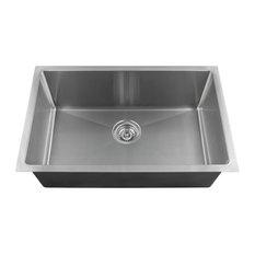 "Single Bowl 3/4"" Radius Stainless Steel Sink, 18-Gauge, Sink Only"