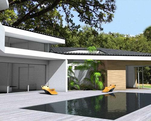 saveemail maison contemporaine tuiles noires - Maison Moderne Beton