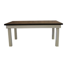 Farmhouse Table Hardwood Top Deep Grey Finish 72-inchx42-inchx30-inch