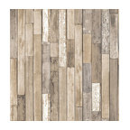 Barn Board Brown Thin Plank Wallpaper Bolt