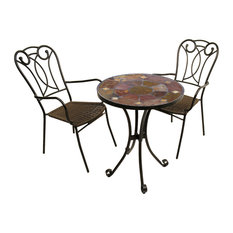 Ondara 3-Piece Bistro Set With Verona Chairs