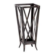 Cyan Hacienda Umbrella Stand 04865, Raw Steel