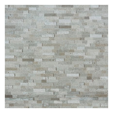 """Luxe Core Brick 10.82"""" x 11.8"""" Marble Peel and Stick Tile, Gray"""