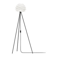 "Carmina 51"" Tripod Floor Lamp, Black/White"