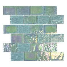 "Emerald Green, 2""x3"", Glass Tile"