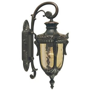 Small Wall Down Lantern, Old Bronze