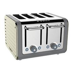 Dualit Architect 4 Slots Body With Panel Toaster, Grey/White