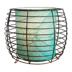 Outdoor Indoor Konani Lamp, Sea Blue
