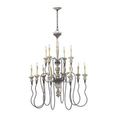 Cyan Design Provence 12 Light Chandelier, Carriage House