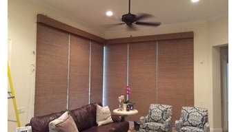 Natural Woven Wood Motorized Shades