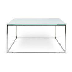 Temahome Tema Gleam 30x30 Gl Coffee Table Chrome Legs Tables