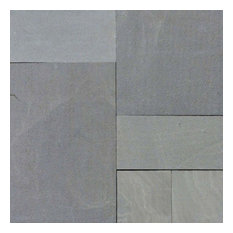 """Mountain Bluestone Hardscaping Pavers, Sandstone, Flamed, 12""""x12"""", 40 Sq. ft."""