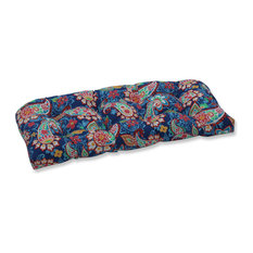 Outdoor/Indoor Paisley Party Coral Wicker Loveseat Cushion