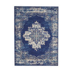 Nourison Grafix Area Rug, Navy Blue, 5