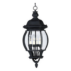 Maxim Lighting 1039BK Crown Hill 4-Light Outdoor Hanging Lantern