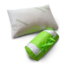 Original Bamboo Comfort Memory Foam Pillow, White, King, Set of 2