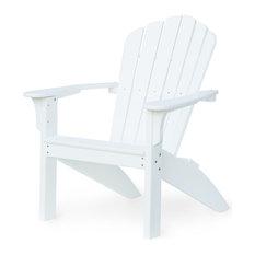 Harbor View Adirondack Chair, White