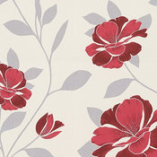 Hollywood  - Graphical Retro Floral Trails Vintage  Cream Wallpaper Roll