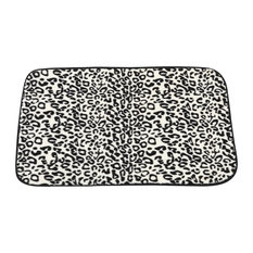 Carnation Home Fashions Faux Fur Bath Mat Snow Leopard Mats