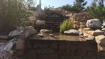 Водопад, до - после