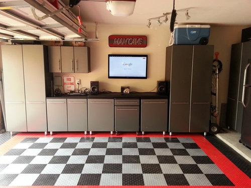 Malcolm's: 2013 Garage Makeover: Modular Flooring & Ulti-Mate Cabinets