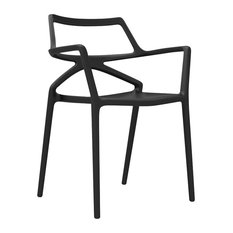 Delta Chair With Arms 23.25�X19.75�X31.5� Black