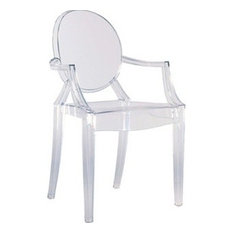 TRIBECA DECOR - Arm Chair by Lamoderno, Clear, Set of 12 - Armchairs and Accent Chairs