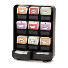 Mind Reader   Tea Bag And Accessory Rack, Black   Coffee And Tea Maker  Accessories