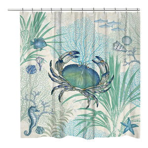 Delicious Blues Shower Curtain Contemporary Shower