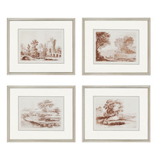 "Lorrain Sketches Artwork, Set of 4, 24""x20"""