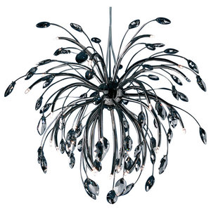 Copenhagen Black Chrome Crystal Pendant Light, Large