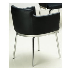 Club Style Swivel Arm Chair - Set of 2 (White)