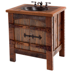 Rustic Bathroom Vanities And Sink Consoles by Woodland Creek Furniture